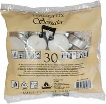 Čajové svíčky bílé 30 ks