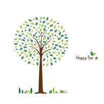 Naklejka dekoracyjna Happy Tree