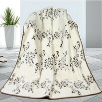 Vlněná deka DUO Caschmere Indie, 155 x 200 cm