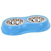Dvojitá miska pro zvířecí miláčky, modrá