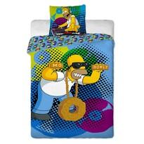 Detské bavlnené obliečky The Simpsons Homer DJ, 140 x 200 cm, 70 x 90 cm