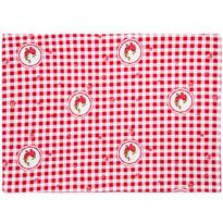 Suport farfurie Country cu pătrate, roşu, 33 x 45 cm