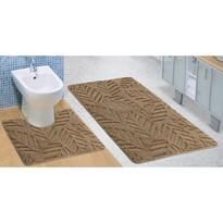 Sada kúpeľňových predložiek Standard Jeseň béžová, 80 x 50 cm, 50 x 40 cm