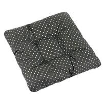 Sedák Adéla Puntík bílá na šedé, 40 x 40 cm