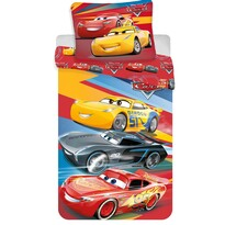 Lenjerie de pat Cars red 03din flanelă, 140 x 200 cm, 70 x 90 cm