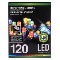 Vianočná svetelná reťaz, farebná, 120 LED