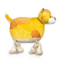 Polštářek Kočka žlutá, 47 cm
