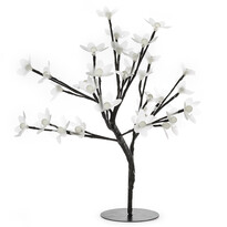 Svietiaci stromček s kvetmi, 32 LED