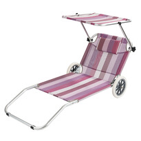Lehátko plážový vozík, ružová