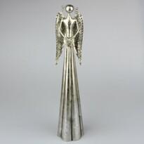 Kovový anjel so srdcom, 39 cm