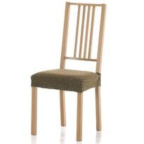 Multielastický potah na sedák na židli Petra tmavě hnědá, 40 - 50 cm, sada 2 ks