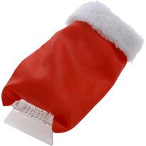 Autoškrabka s rukavicí, červená