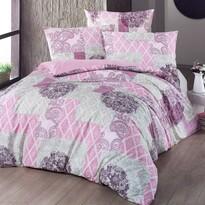 Bavlněné povlečení Ottorino růžová, 220 x 200 cm, 2x 70 x 90 cm