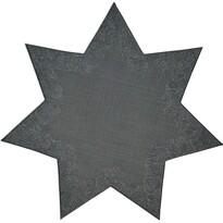 Sander Dekorační ubrus Illusion hvězdaantracitová, pr. 28 cm