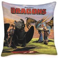 Perniţă Cum să îți dresezi dragonul Sughiţ şi  Astrid, 40 x 40 cm