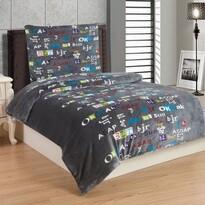 Lenjerie de pat Literă, din micro-pluș, 140 x 200 cm, 70 x 90 cm
