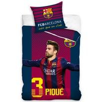 Bavlněné povlečení FC Barcelona Pique, 140 x 200 cm, 70 x 80 cm