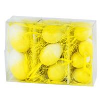 Veľkonočné vajíčka 9 ks, žltá