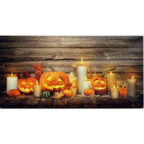 LED Obraz na plátne Pumpkin, 60 x 30 cm