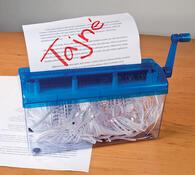 Domácí skartovačka papíru A4 modrá