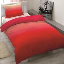 Pościel satynowa Balayage czerwony, 140 x 200 cm, 70 x 90 cm