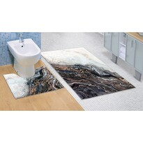 Kúpeľňová predložka Mramor 3D, 60 x 100 + 60 x 50 cm