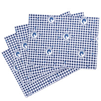 Country tányéralátét kék kockás, 33 x 45 cm, 4 db-os szett