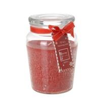 Lumânare aromată Morlais, în borcan, roşu, 14,5 cm