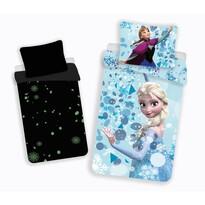 Lenjerie pat pentru copii Regatul de gheață Frozen glow din bumbac, 140 x 200 cm, 70 x 90 cm