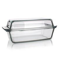 Simax Pekáč skleněný hranatý s víkem 5,4 l