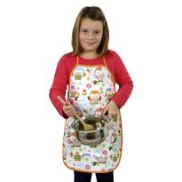 Fartuch kuchenny dziecięcy Sówki kolorowe, 42 x 55 cm