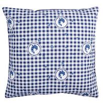 Poszewka na poduszkę Country kratka niebieski, 40 x 40 cm