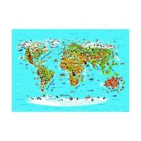 Fototapeta dziecięca XXL Mapa świata 360 x 270 cm, 4 części