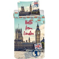 London Hello pamut ágynemű, 140 x 200 cm, 70 x 90 cm