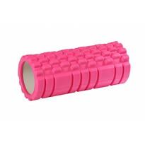 Fitness masážní válec růžová, 33 x 15 cm