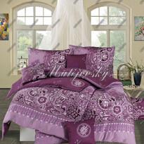 Matějovský saténové obliečky Afrodita Violet, 220 x 210 cm, 2 ks 70 x 90 cm