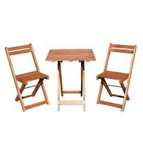 Happy Green Acacia balkonový set 3dílný so štvorcovým stolom