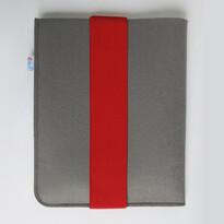 Pokrowiec na iPad, z czerwoną gumką