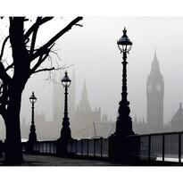 Fototapeta XXL Londyn we mgle 360 x 270 cm, 4 części