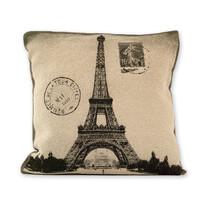 Poszewka na poduszkę Gold Żakard Eiffel tower, 45 x 45 cm