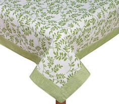 Obrus Ivo z lamówką Gałązka zielony