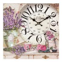 Nástěnné hodiny Provence Levandule, 34 cm