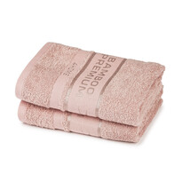 Set 2 prosoape 4Home Bamboo Premium roz, 2x 50 x 100 cm