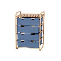 Regał 4 szuflady 70 x 37 x 93 cm niebieski