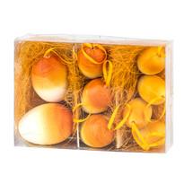 Velikonoční vajíčka 9 ks, oranžová