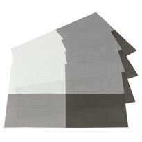 Prostírání DeLuxe světle hnědá, 30 x 45 cm, sada 4 ks