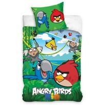Dětské bavlněné povlečení Angry Birds Jungle, 140 x 200 cm, 70 x 80 cm