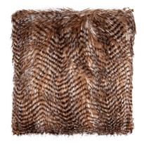 Pernuţă striată, maro, 45 x 45 cm