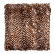 Poduszka pręgowana brązowy, 45 x 45 cm