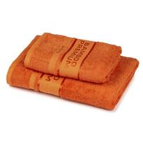 Set prosoape 4Home Bamboo Premium portocaliu, 70 x 140 cm, 50 x 100 cm